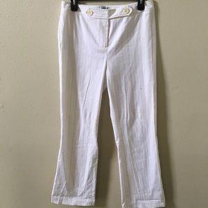 Ann Taylor Striped White Pants